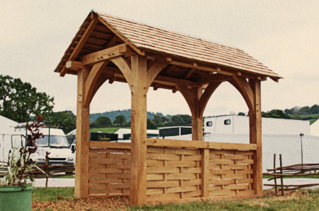 Hay Festival timber frame